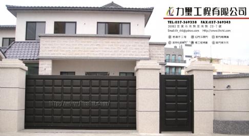 不锈钢烤漆造型电动大门